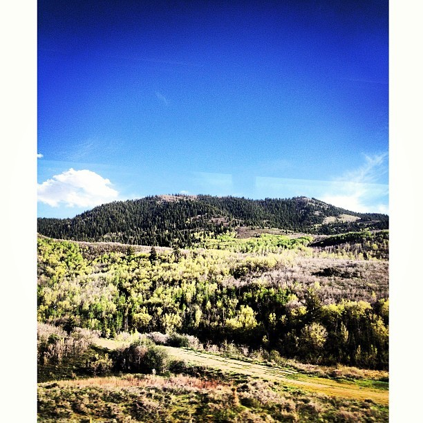 The ride up to Park City is pretty.
