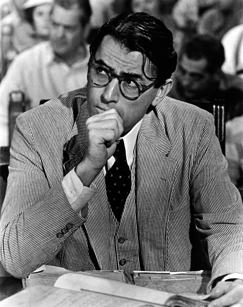 "fuckyeahhistorycrushes:  Gregory Peck I know, I know Gregory Peck was probably already submitted, but I saw that it was mostly for him as Atticus Finch. No, no, no. I mean, Atticus is an iconic character, but can we PLEASE get into how amazing of a person Gregory Peck was? For being such a gruff man of the late 50s/early 60s he was quite liberal. He believed in women's rights and equalities. He was pro-choice and believed that a woman's body was her own. Richard Nixon put Gregory Peck on an 'enemies' list for his liberal activism. He even had his own movie romance — while filming Roman Holiday, Peck was depressed over his impending divorce from his wife. During the shoot, he met a French reporter and fell in love. They married immediately after Peck's divorce was finalized and remained married til his death. He marched with Martin Luther King, campaigned for women's rights, supported gay marriage/was a supporter of GLAAD, active supporter of raising funds for AIDS researching, often attended political rallies, and he remained close friends with Mary Badham, the girl who played ""Scout"" in To Kill A Mockingbird. There's nothing dreamier than a ""man's man"" who's very open to the world around him."