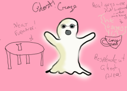"Craze in ghostform probably their trueform  apparently there is a brand of coffee in ye wild Madison and it is called Gay Coffee, and their tagline is ""The gayest"" and Craze would really like some so I gave the,m undead gay coffee"