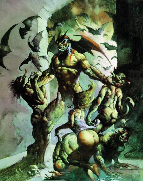 Devilman Art by Simon Bisley