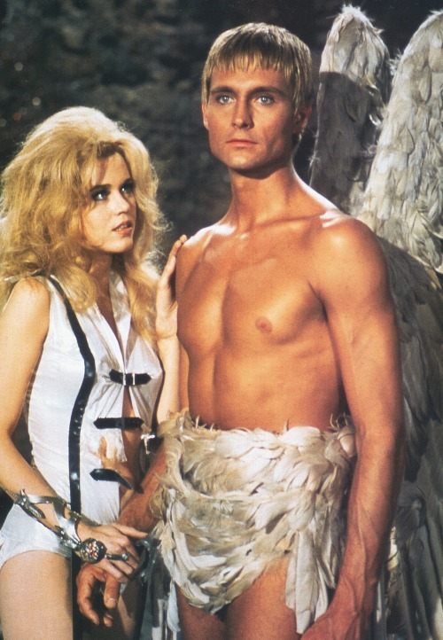 aladyloves:  Jane Fonda and John Phillip Law in Barbarella (1968)