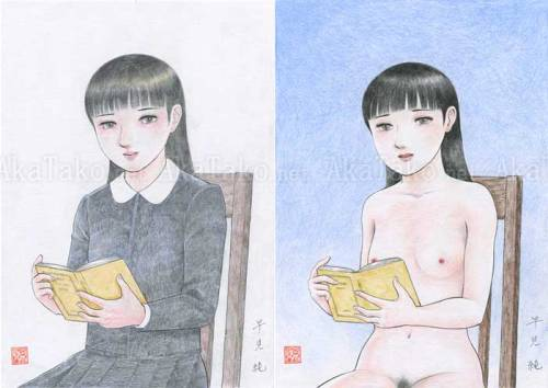 Original drawing diptychby Jun Hayami$675
