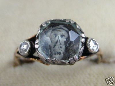 maudelynn:  One of my favourite memento mori rings… a 1770s Gold and Diamond Ring with a Skull under the center stone