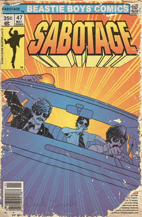 laughingsquid:  Beastie Boys 'Sabotage' Video Turned Into Vintage Comic As a Tribute to Adam 'MCA' Yauch
