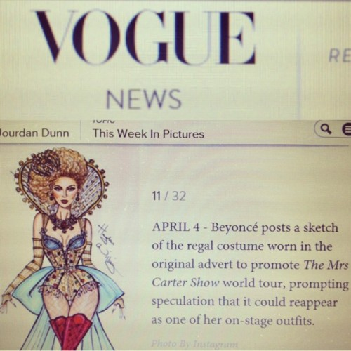 haydenwilliamsillustrations:  Wow, my Beyonce design is on VOGUE!! Thanks @british_vogue