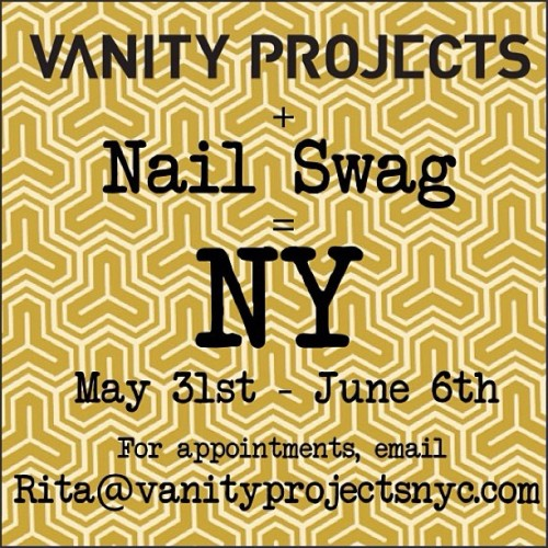 HEY NY… SEE YOU IN A COUPLE OF WEEKS! Please email Rita@vanityprojectsnyc.comfor appointments! @vanityprojects #nailswag #nails #nailart #nailartclub #NY #swag