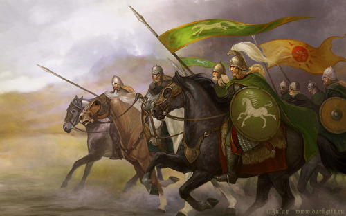 lothirieloftheriddermark:  Rohirrim by ~CG-Warrior