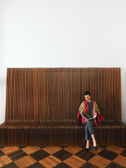 rosewood bench ~ richard seifert architect