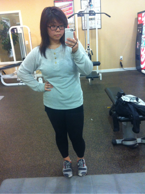 jfreesh:  On my grind at the gym! Started with 4 layers ! Tank top, thermal, therma-fit , and north face! I had to strip off some layers. Still sweating and have flushed cheeks! I love it and I can not get enough of it! Getting fit is my challenge and staying healthy is my life style. My ultimate goal is to maintain both and not lose track like before!!!!  Yupp, that's my girlfriend. We've been on that healthy tip for about 2 months now. & trust, that's a breaking record for me hah. It really makes things a lot easier when you have a love one and/or friend doing it with with you.