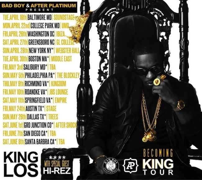 Los - Becoming King Tour - Tour Dates - Los