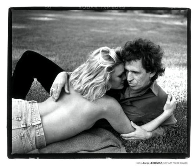Patty Hansen and Keith Richards Photo by Annie Leibovitz
