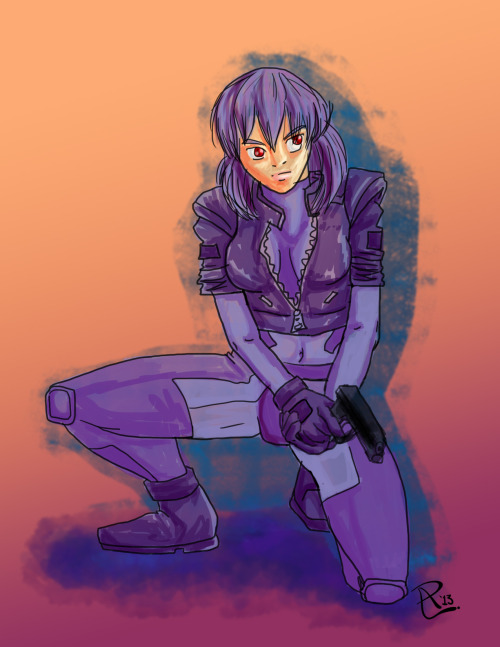 http://patrucca.deviantart.com/art/Major-Kusanagi-361802335 - done for today's DSC cuz I like GitS & I needed a break from the 4 other fan art pieces I'm working on and, yes, this is kinda crappy, but it was done quickly so… 45 mins