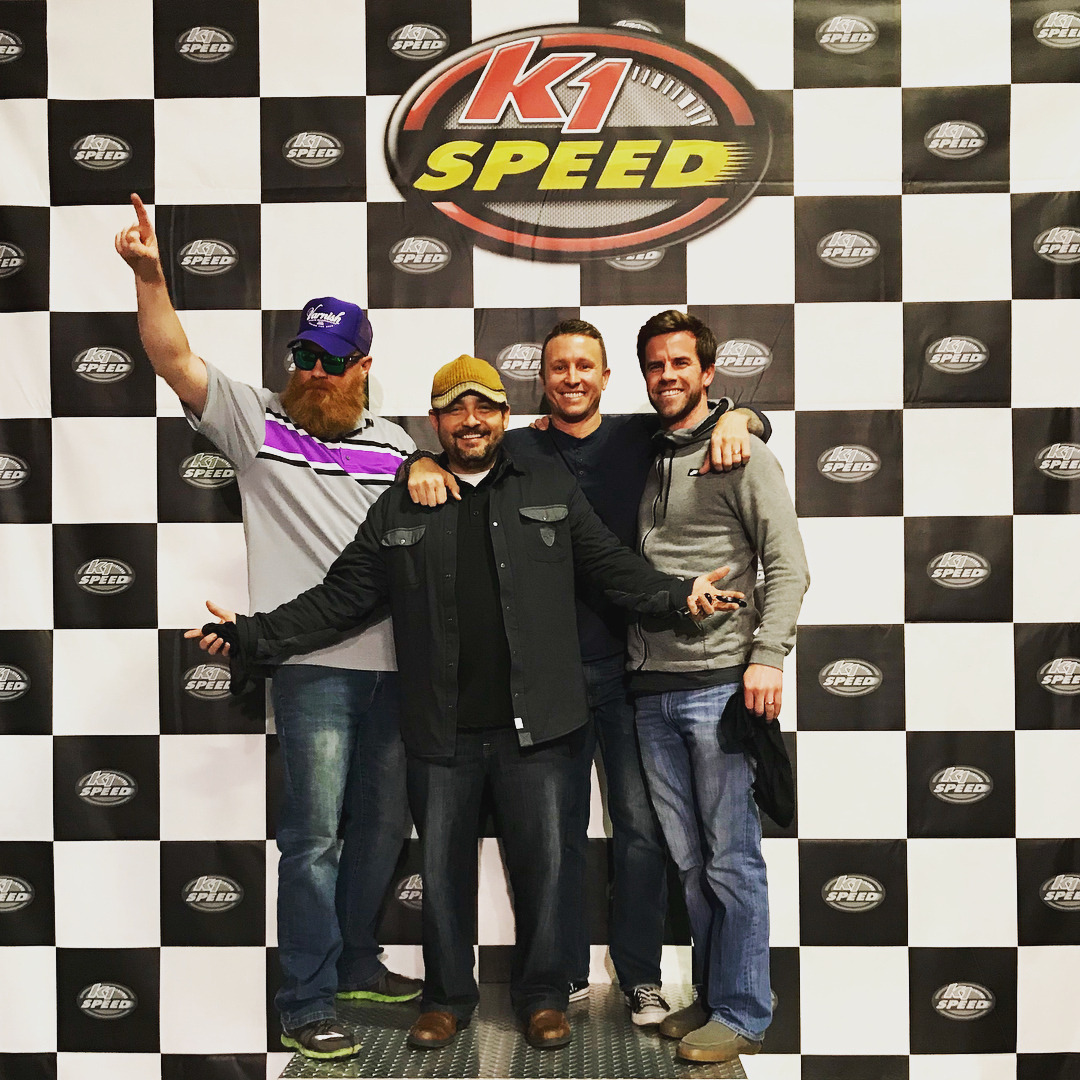 Happy 37th birthday Joel McCormick! We had a small crew meet up for some karting and fun at K1 last night. It was last minute - but we all made it! (at K1 Speed)