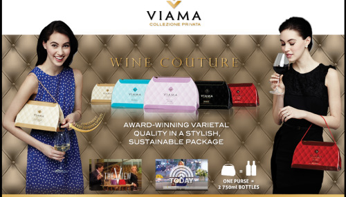 "you guys, allow me to introduce Viama ""Wine Couture""… a box handbag full of wine(!!!) one purse= 2, 750mL bottles hello, beautiful weather & hello, my new favorite accessory! (more info here)"