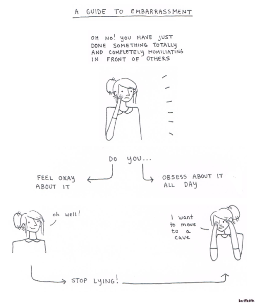 thefrogman:  A Guide to Embarrassment by Beth Evans [tumblr | twitter]