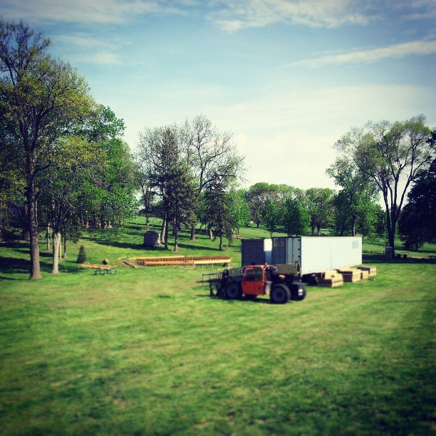 Progress. #nebraskashakespeare #shakespeareonthegreen