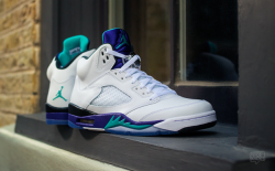 "AIR JORDAN 5 ""GRAPE"" DETAILED IMAGES via nicekicks.com"