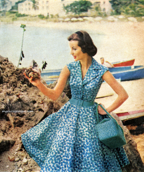 theniftyfifties:  Fashion for McCall's magazine, May 1955.