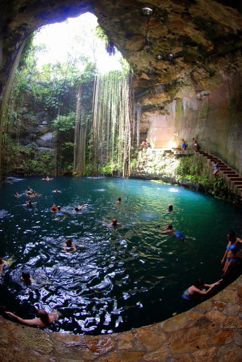 travelingcolors:  Sacred Blue Cenote, Chichen Itza | Mexico (by afterw0rdz)