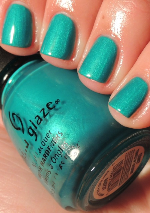 dannibean13:  China Glaze Turned Up Turquoise.