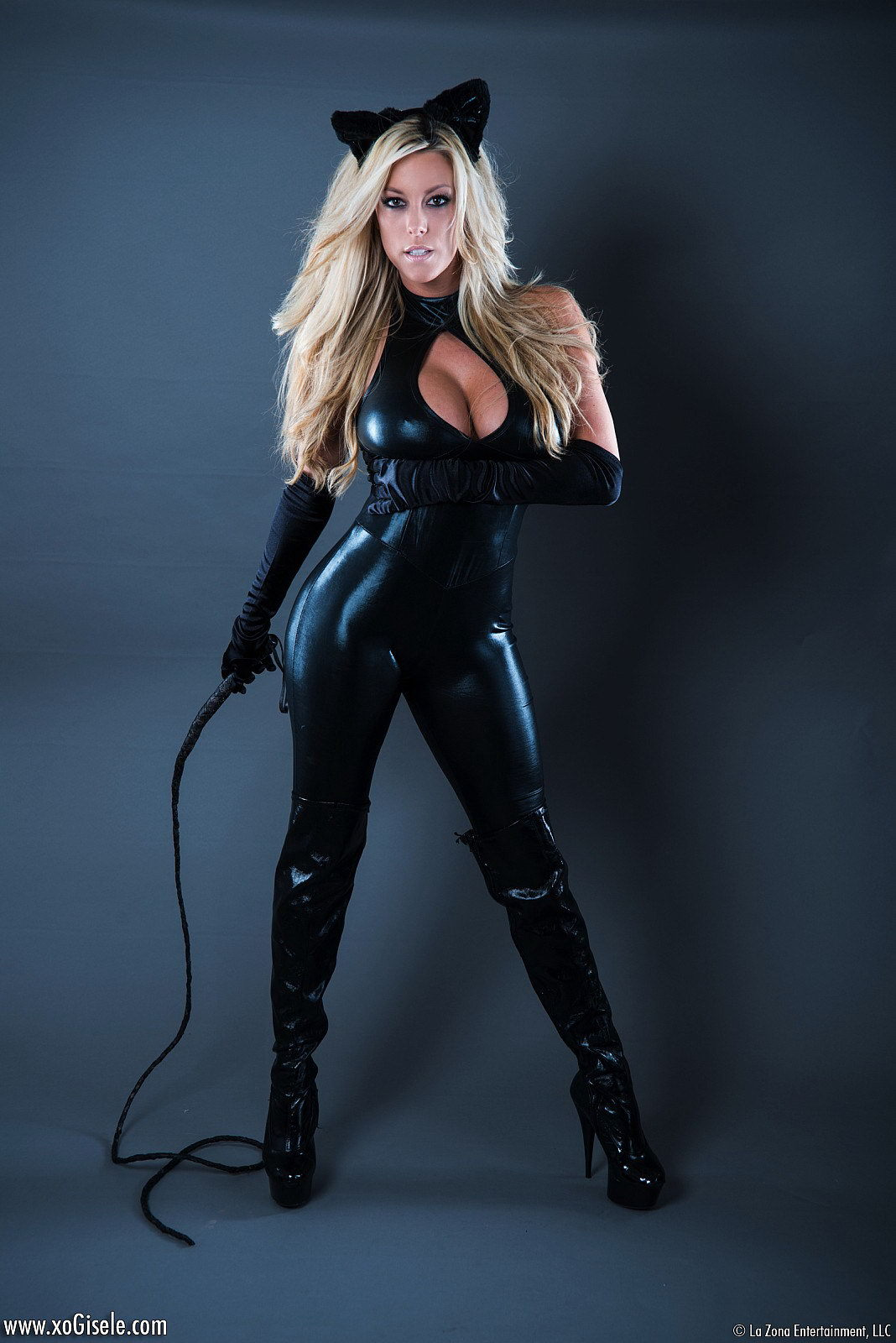 Catwoman leather adult costume