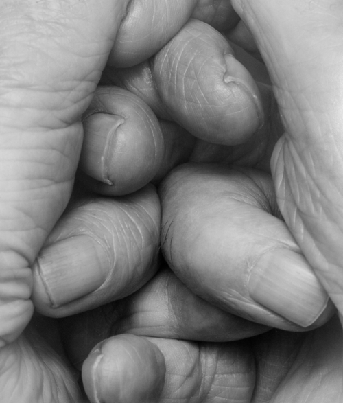 pikeys:  Interlocking Fingers, 2000 by John Coplans