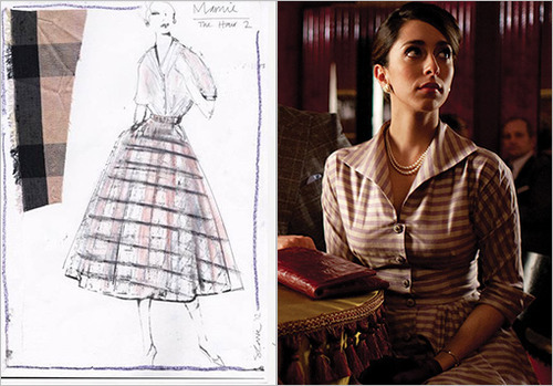 "'The Hour' costume designer Suzanne Cave on creating that London look — EW.com    Though BBC America's newsroom drama The Hour – now in its second season – has been dubbed ""The British Mad Men,"" series costume designer Suzanne Cave says there are distinct differences when it comes to the clothing.  ""In terms of similarities I suppose the silhouettes are similar, but Fifth Avenue advertising in the '50's is worlds away from [The Hour's] Lime Grove,"" Cave tells EW. ""British fashion was a slight step behind American fashion. Even just in terms of the technology of fabrics, that kind of thing would've been more advanced in America."" If anything, the costumer examined the different worlds of the British TV rivalries of the late '50s for historical style references. ""Where as the ITV guys are much slicker, much shinier, the people who work at the BBC are a little bit quirkier, so we marked the difference between those two,"" said Cave, who, along with her team, custom designs many of the outfits for the show's main characters Freddie Lyon (Ben Whishaw; above right), Bel Rowley (Romola Garai; above center),  Hector Madden (Dominic West; above left), and Marnie Madden (Oona Chaplin).    If you're into the fashion of The Hour, this post is a must read."