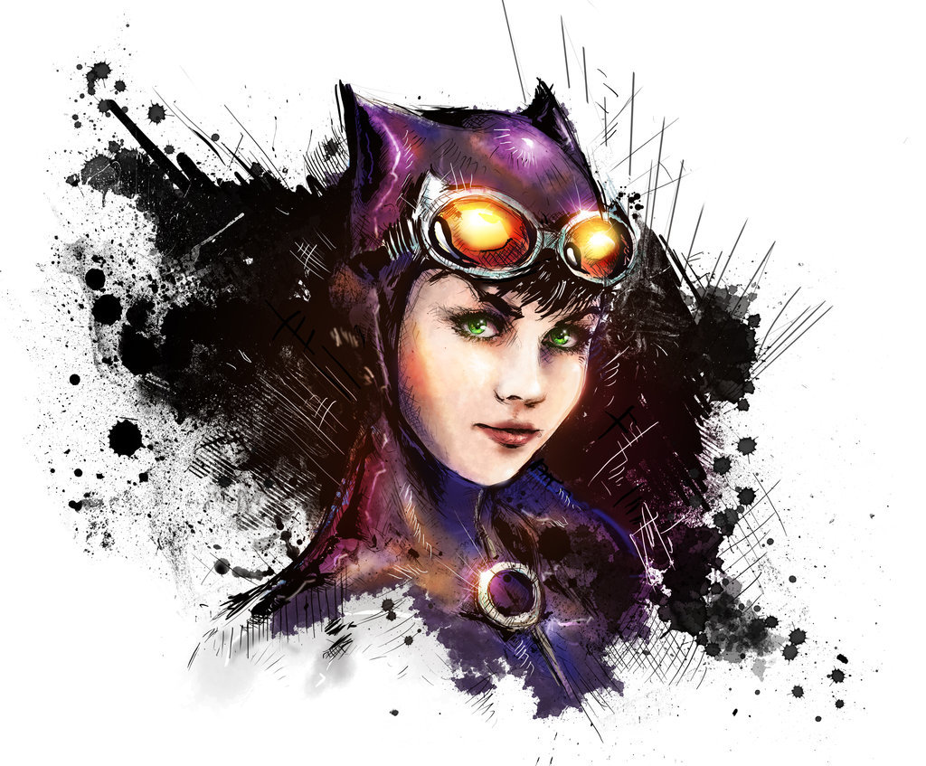 herochan:  Catwoman Created by Vincent Vernacatola