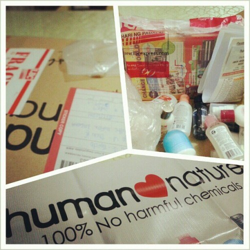 The package has arrived! Orders? Keep 'em coming! ♥ #HumanHeartNature #100%Organic #2013Goals