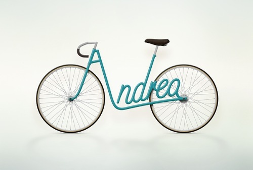 Juri Zaech Bike Typography