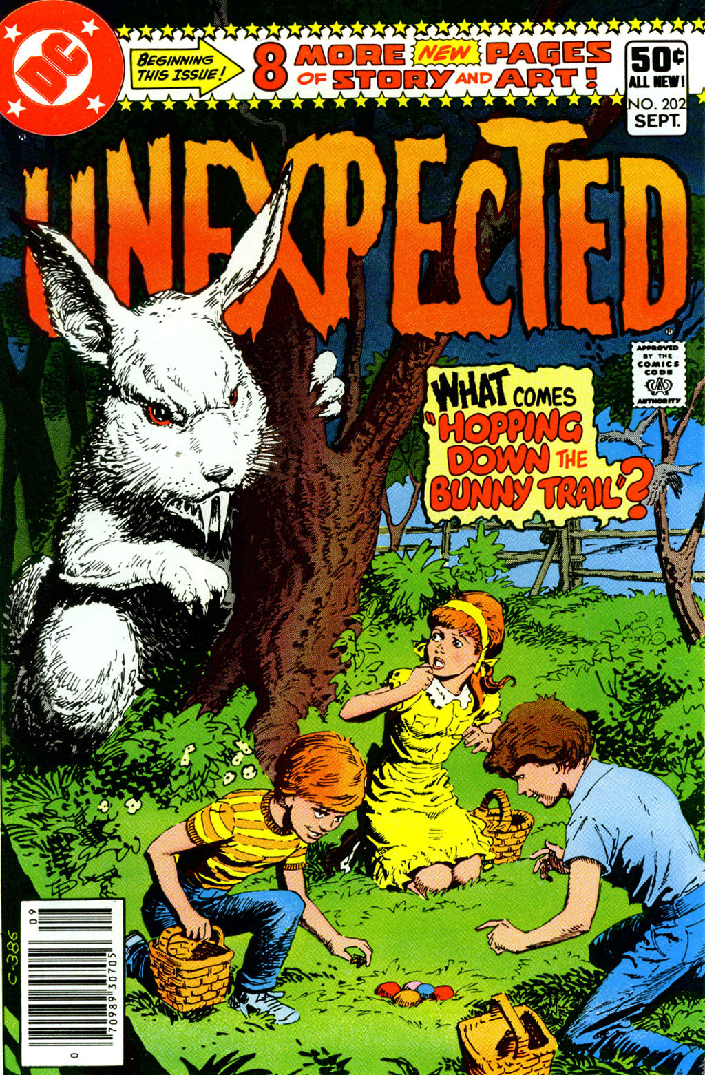 comicbookcovers: Happy Easter! The Unexpected #202, September 1980, cover by Luis Dominguez