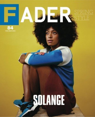 Solange covers the FEB/MAR 2013 cover of THE FADER