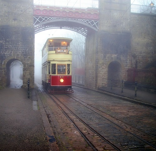 Foggy Tramway, Derbyshire, England photo via versaversa
