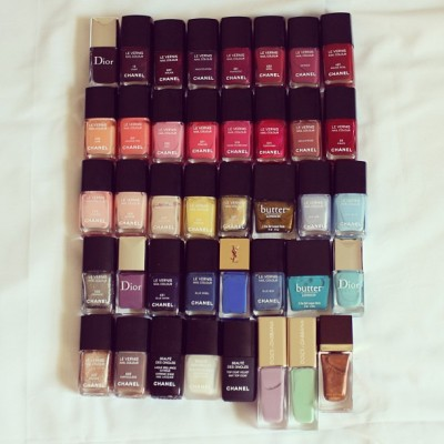🙊 Heehee….some of my nail polishes….#hoarder Instagram: MissYanaCherie  (at CHANEL Boutique)