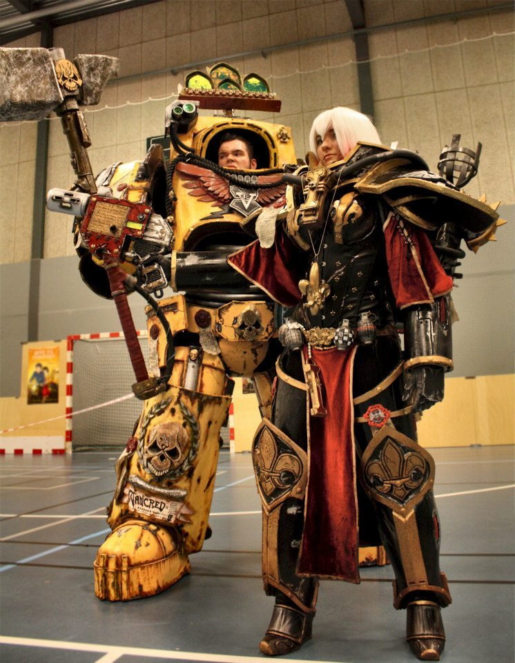 greatcosplay:  Space Marine and Sister of Battle, Warhammer 40,000  Colsplay winning