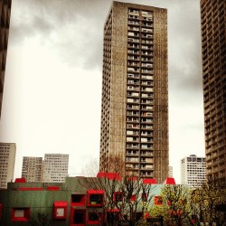 #paris #13 #red #building