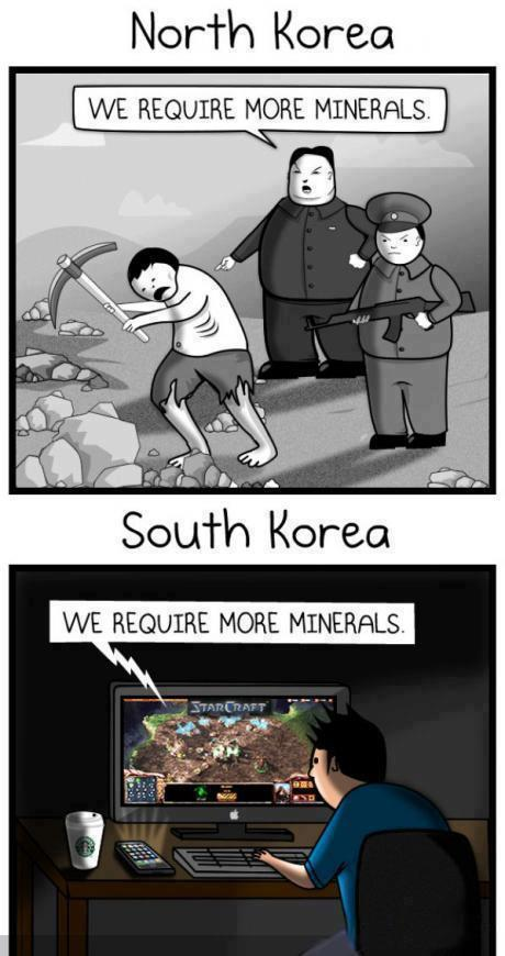 "gamjawang:  ""We Require More Minerals."" Oddly enough, so wrong, so sad, but so true…"