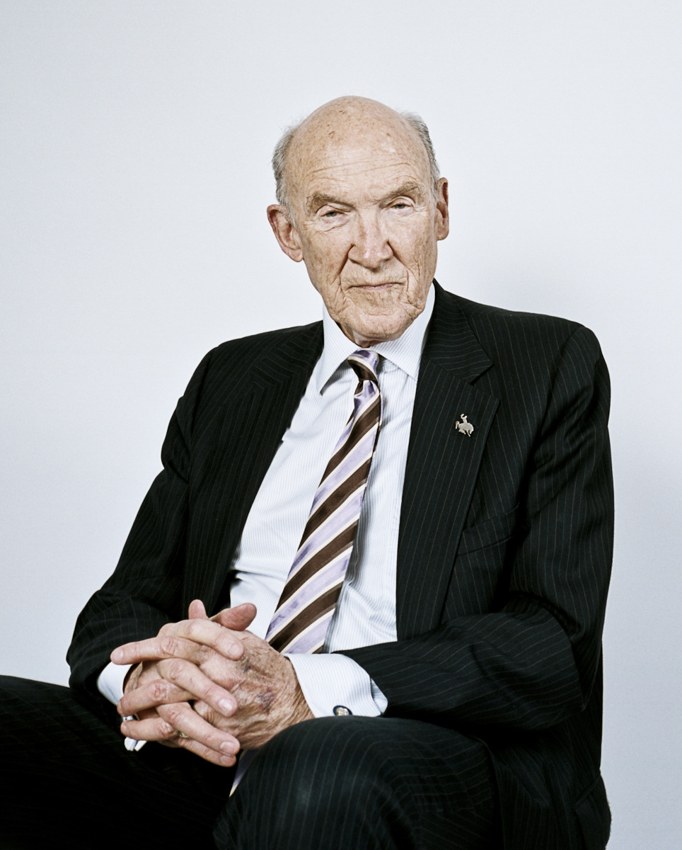 "This is Alan Simpson the first time I photographed him at his home in Cody, Wyoming for BBW. There is no way to really explain how crazy he is unless you meet him in real life but he was full of good stories, dirty jokes and some straight talk about the finances of our great nation.  He was incredibly welcoming and got my assistant and I into the Buffalo Bill museum for free since we had some time before our flight and even told us where we could find ""Beer that would make us shit through a screen door at a thousand yards"" (still not sure if that is good or bad)."