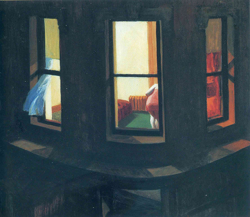 Night Windows, Edward Hopper, 1928.