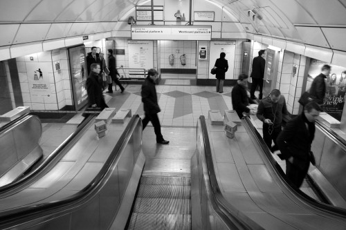Motion in the tube. London, March 2013.