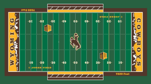 Wyoming's new football field. The mountains in the end zone are a unique look.