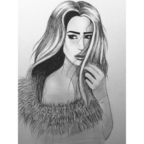The lovely @ashleysky #drawing #myart #beauty #indianocean