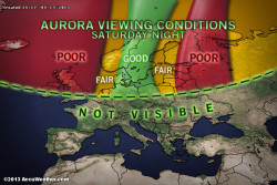 Dazzling Northern Lights Anticipated Tonight Don't worry, Europe, we made a graphic for you, too! The southern lights will not have a particularly high reach, potentially only including Tasmania and the southernmost coast of Victoria. Most of New Zealand's South Island will be within range. To view the North American conditions, click here.