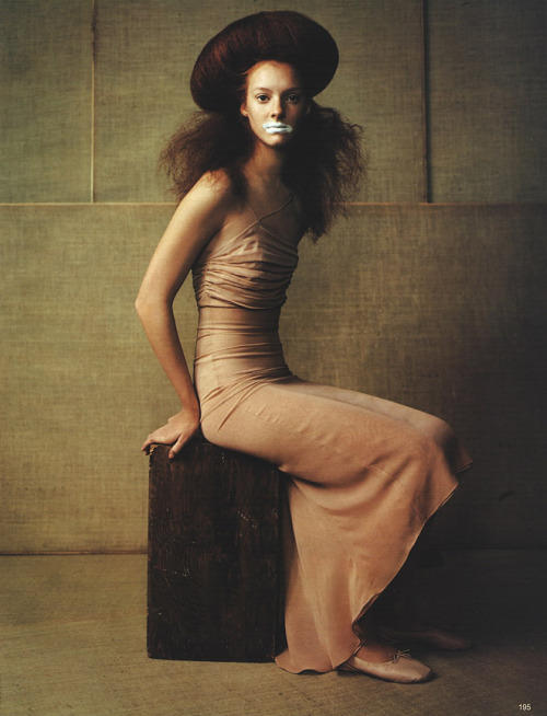 "More inspiration.   ""Fin Hauch Von Rauch"", Vogue Germany, February 1998Photographer : Ruven AfanadorModel : Sunniva Stordahl"