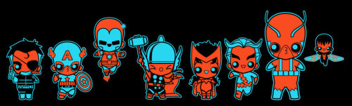 Chibi Avengers by marisolivier on DeviantArt.