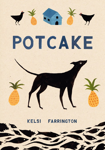 Cover design no.2 for Kelsi Farrington's prospective cookery book, Potcake. The book is a fusion of Bahamian recipes, and her personal memories of growing up in the Bahamas.