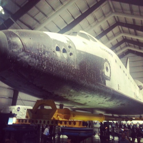 Pretty,  pretty big. (at Space Shuttle Endeavour @ California Science Center)