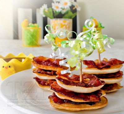 Breakfast. Anytime of the day. Mini bacon pancake bites