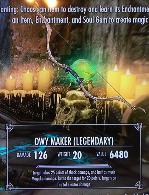 Skyrim enchanting the elder scrolls owy owy maker