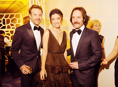 Jason Sudeikis, Olivia Wilde and Paul Rudd at the Time/CNN/People/Fortune Pre-Dinner Cocktail Reception at Washington Hilton